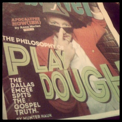 Shout out 2 my Homie Hunter  4 the cover story on Playdough & 4 introducing me 2 his music.