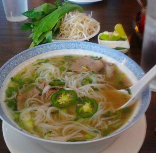 ravessvita:  Pho for lunch today NOM NOM!!  I need some pho in my life right now