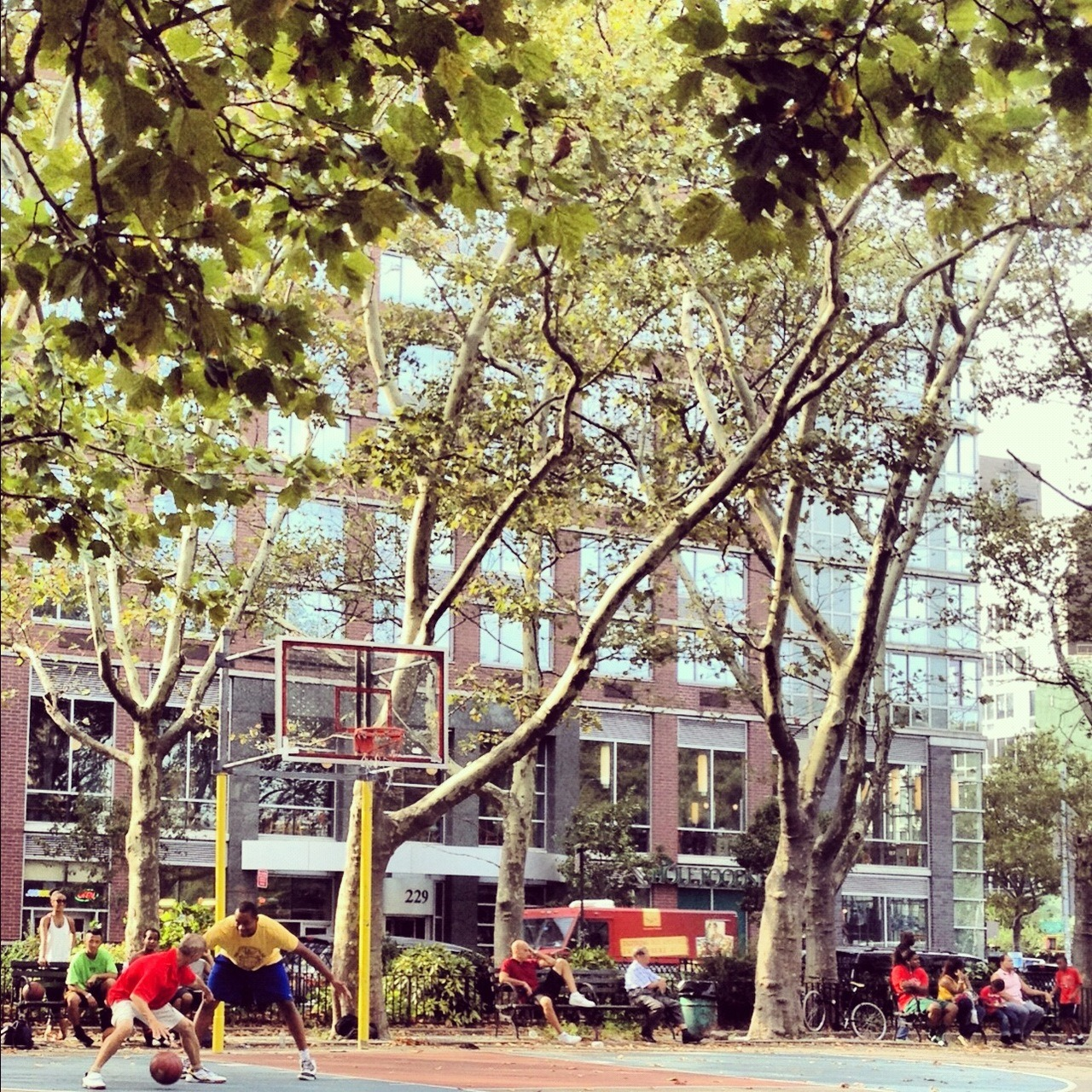 Old Chinese Man Ballin' / Sara Delano Roosevelt Park Playground / Chrystie & Houston / Lower East Side, NYC / 09.08.12 / 4:49PM