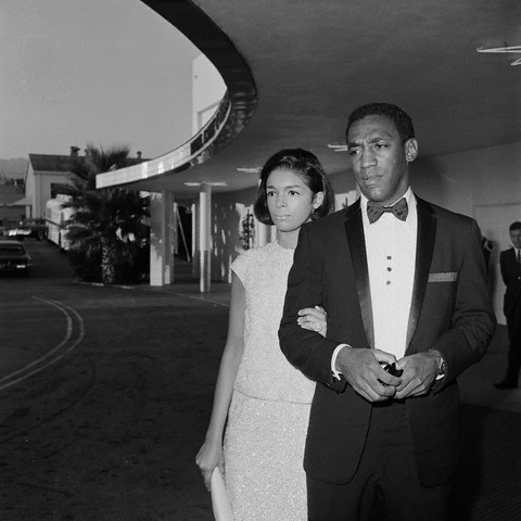 vintageblackglamour:  Bill and Camille Cosby arriving for the Emmy Awards in Los Angeles on September 12, 1965. Photo: Bettman/Corbis.