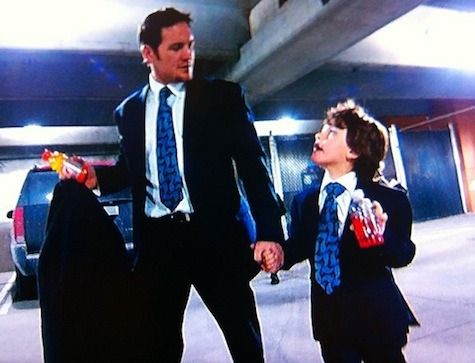 hockeyfathers:  Matt Cooke and son Jackson in matching suits.
