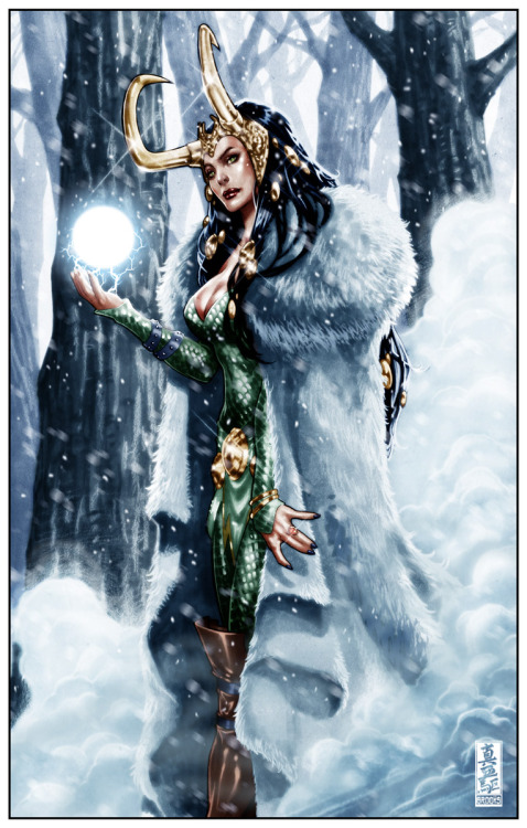 curiouscabaret:  Loki: Summoning the ice giants by `diablo2003