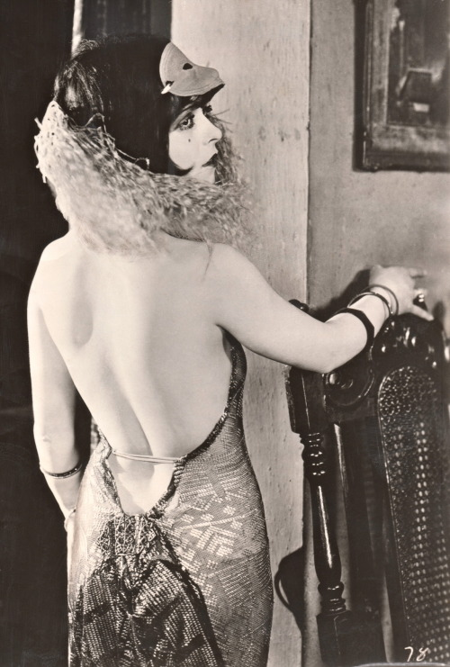 "clarabowarchive:  Vampire Style ☆ Clara Bow ☆ My Lady of Whims (1925) ☆ Typed on reverse:  'VAMPIRES' AGAIN! Fashion experts advise that Milady of 1955 is showing keen interest in the Vampire styles of filmland glamour queens of a generation ago, but in a more subtle manner. Clara Bow famed ""It"" girl of the 20's popularized this type vamp gown.  RECEIVED EXAMINER REFERENCE LIBRARY SEP 9 1955"