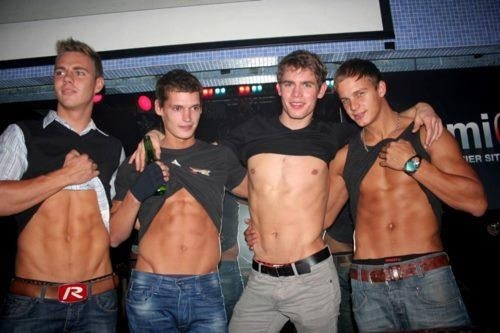 A group of nice fit guys. Can I spend a night with each of them?