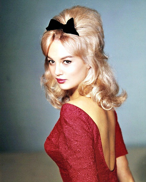 hoodoothatvoodoo:  French actress Mylène Demongeot with her hair in a bouffant style, photo by Sam Lévin, 1961
