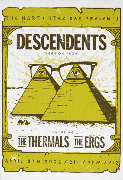 pstrs:  Descendents / The Thermals / The Ergs April 8, 2002