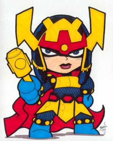 Chibi-Big Barda by Beau Schemery