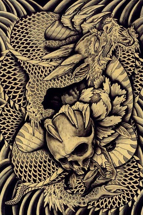 ipowder:  Dragon Skull by Clark North