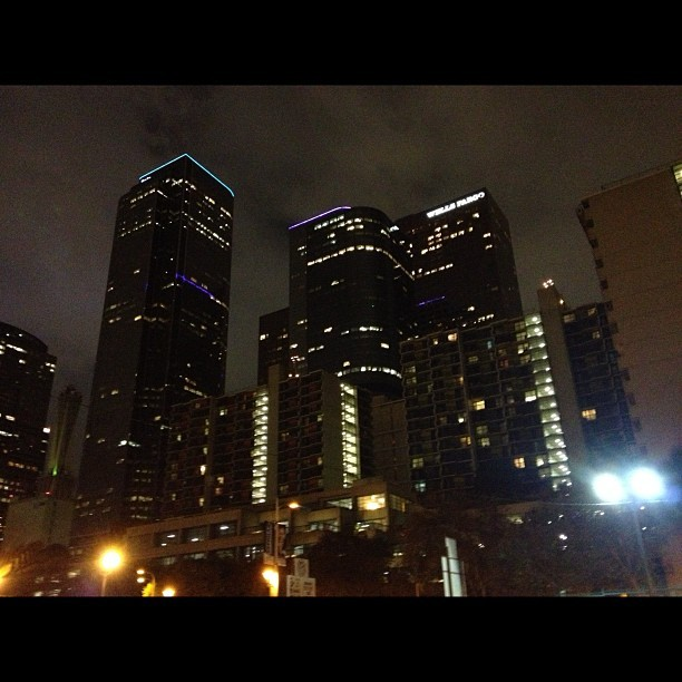 Downtown LA is beautiful at night - #la #losangeles #downtownla #downtown #night  (at Downtown Los Angeles)