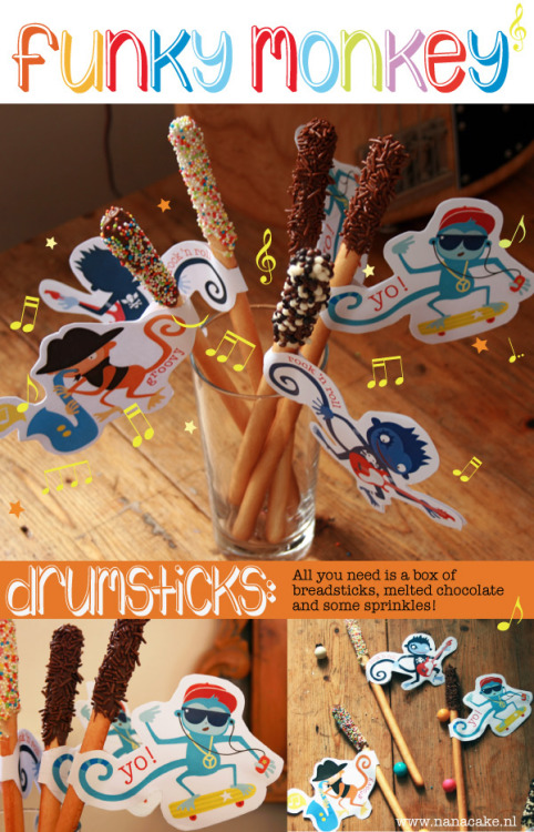 Let's decorate drumstick for your kids. Easy instruction and downloadable file for printable available at MoodKids.