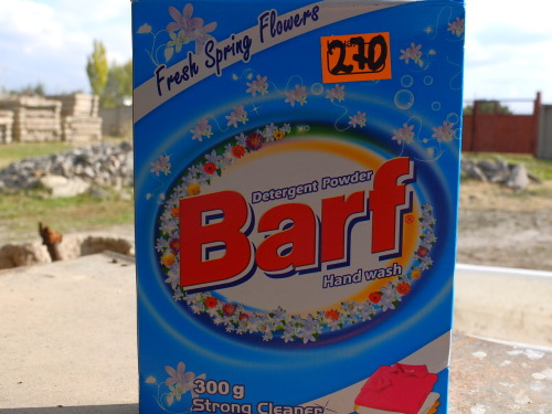 shackway:  Barf laundry detergent, Armenia.