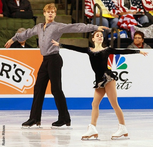 Gretchen Donlan and Andrew Speroff skating their short program at the 2012 Skate America. Their music was Ennio Morricone's La Califa soundtrack.