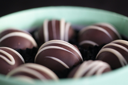 Mint chocolate truffles.