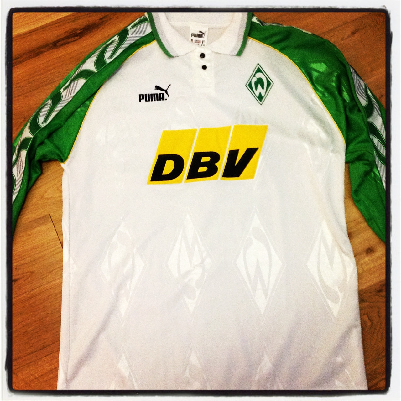 Werder Bremen, Puma, 1995/6 football shirt