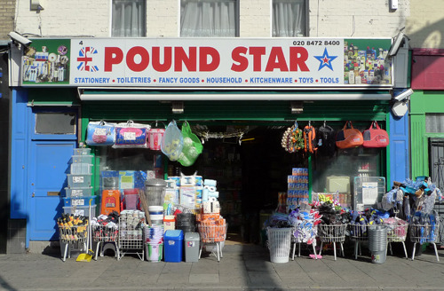londonshopfronts:  Poundstar, High Street South E12