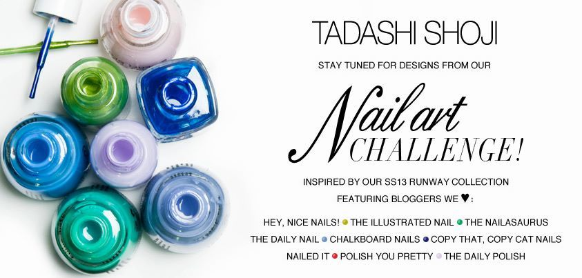 theillustratednail:  The Tadashi Shoji Nail Art Challenge is now open…Please vote for me on the Tadashi Shoji Facebook page! You can vote for your favourite design here… https://www.facebook.com/tadashishoji/app_427357767312145#_=_  cute colors i would be most like to get the lightest blue its cute:)