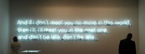 "And if i don't meet you no more …"". FIAC 2012, Paris"