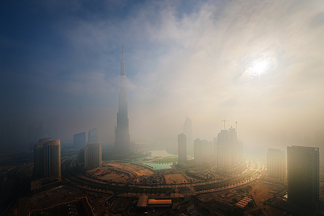 Foggy sunrise in Dubai #6 by momentaryawe.com on Flickr.