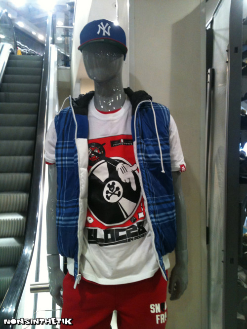 nonsinthetik:  Mannequin in the Footlocker flagship store on Oxford Street, London rocking the Disney Bloc28 Mainline Turntable T-Shirt I illustrated.