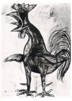 Gallo by Pablo Picasso (1938). Found here.