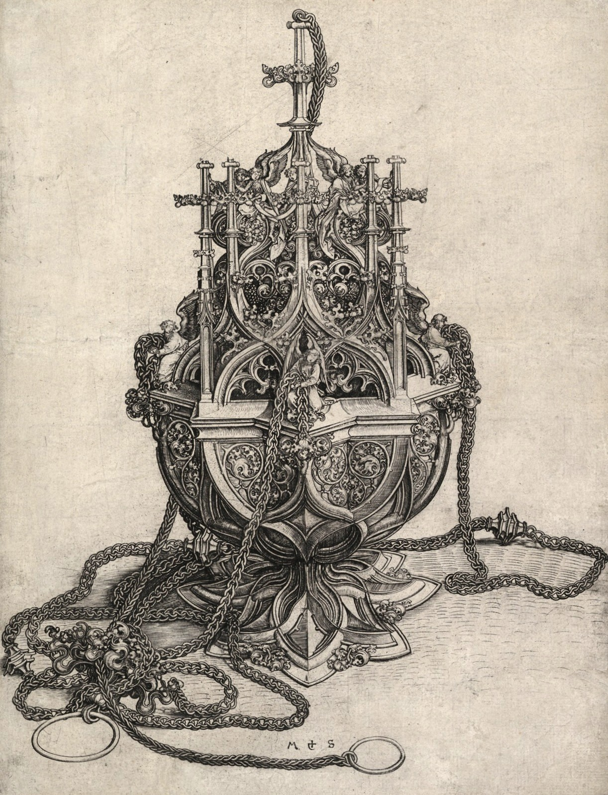 floserber:  Martin Schongauer, The Censer, 15th Century