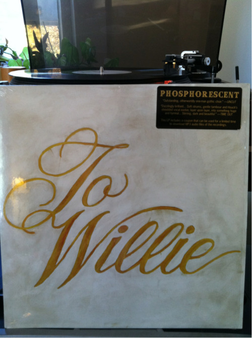 "Phosphorescent - To Willie Dead Oceans (DOC013) 2009  Starting Sunday morning with a heartfelt rendition of ""Reasons To Quit"" means nothing, I tell you. Nothing."