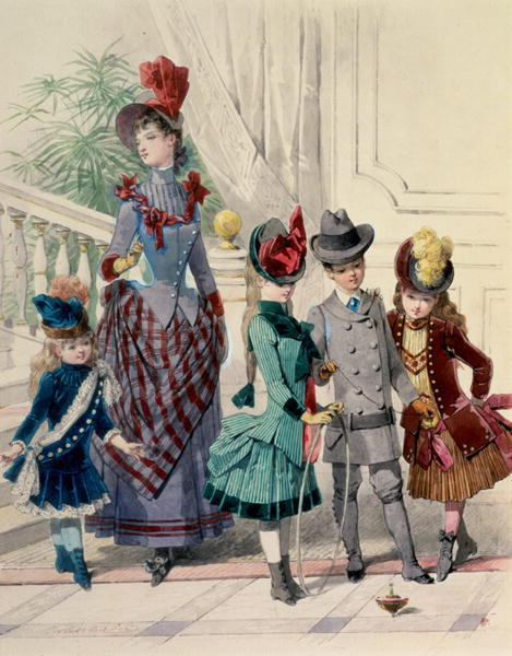 highvictoriana:  1880s fashion plate.