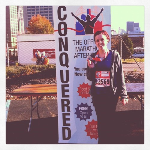 First half marathon complete, 1:56:14 ! :) (at Detroit Free Press/Talmer Bank Marathon)