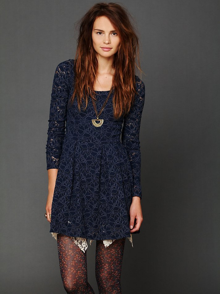 Love the all-over lace and long sleeves