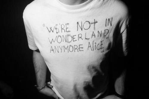 We're not in wonderland anymore alice /