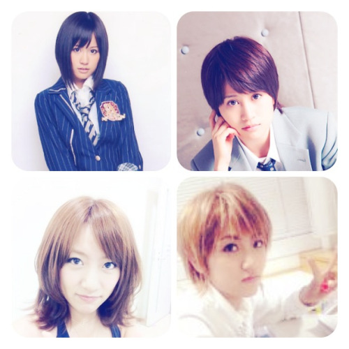 From girls to boy. Their look kakoii>