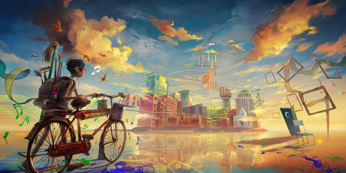 great destination, digital fantasy painting by henryz. You've never seen a world like this before. You will also like: Anchorpoint.