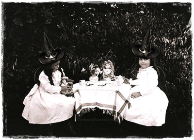 Little Witches having Tea