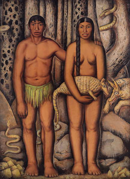 Alfredo Ramos Martinez, The First Americans (Mexican Adam and Eve), 1933.