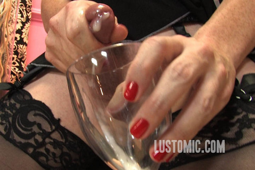 Always make sure your sissymaid empties her naughtiness into a glass to make clean up easy.