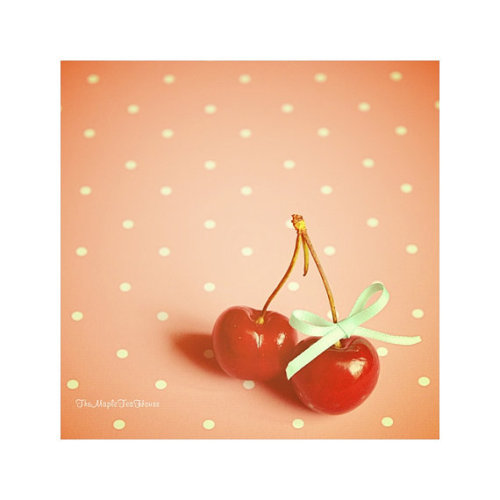 (via Cherries Photograph Print by TheMapleTeaHouse on Etsy)