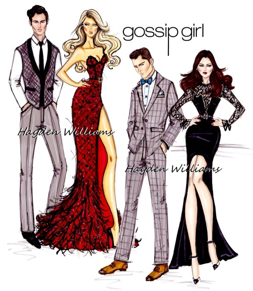 haydenwilliamsillustrations:  Gossip Girl by Hayden Williams