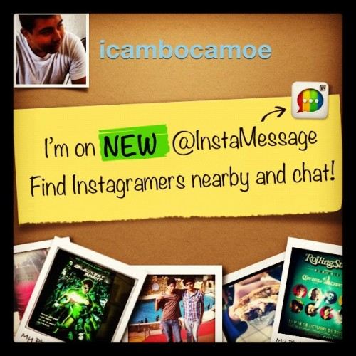 I'm on @InstaMessage! Chat with me now! #instamessage