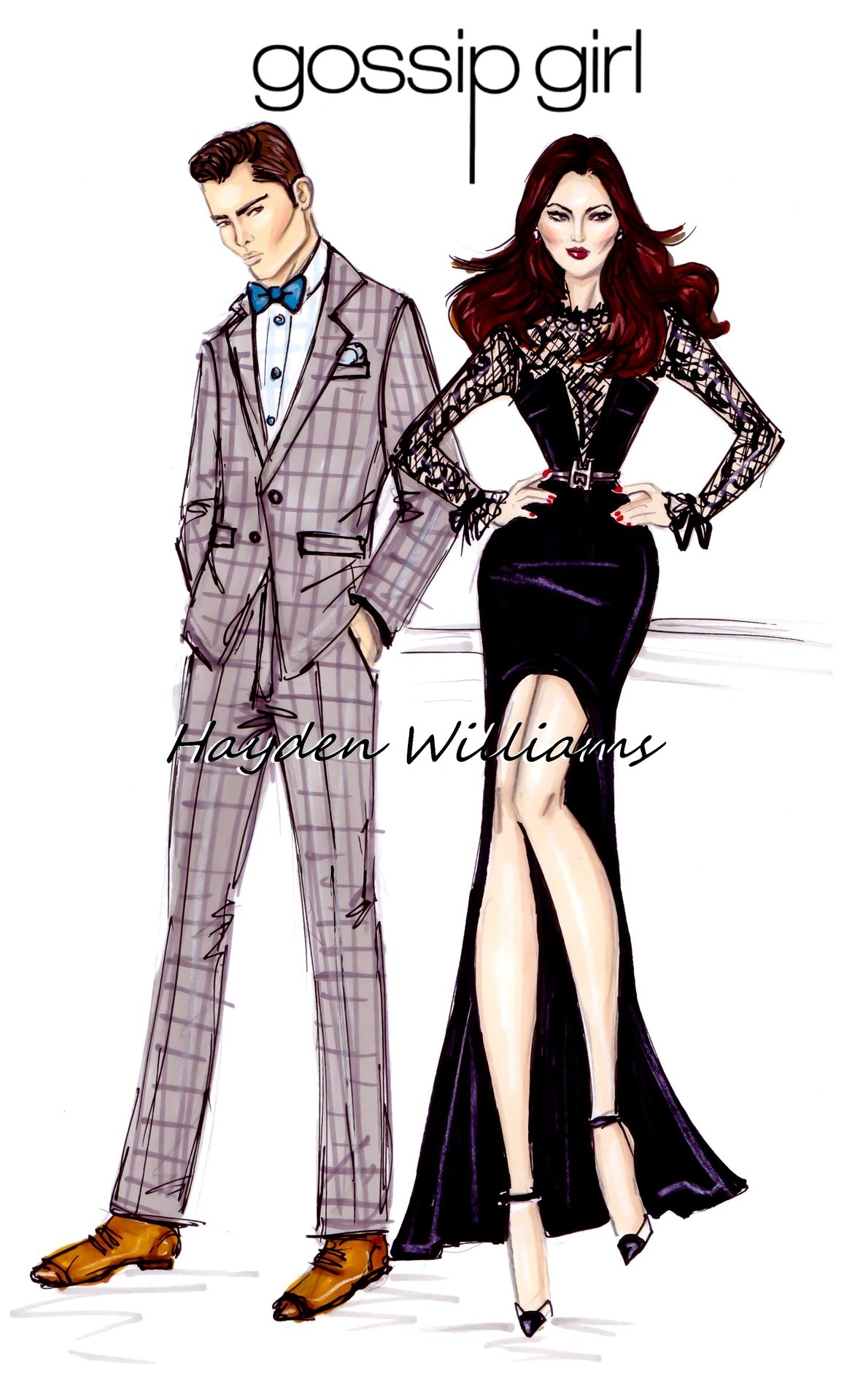 Gossip Girl by Hayden Williams: Chuck & Blair