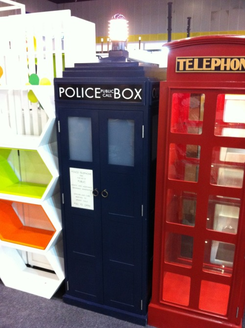 pinkhusky:  TARDIS, a custom-order storage unit.  From Bangkok International Gift and Home decoration Festival.