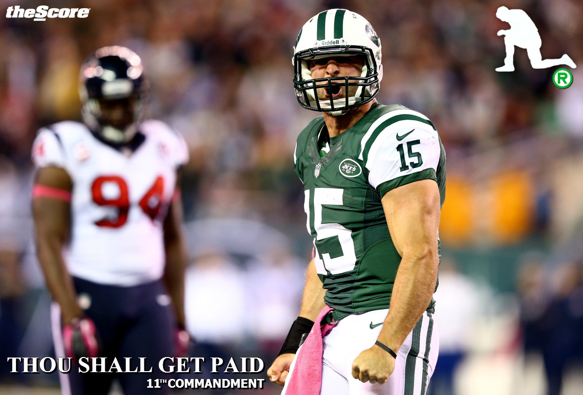 #Jets QB Tim Tebow has a new commandment. (photo)