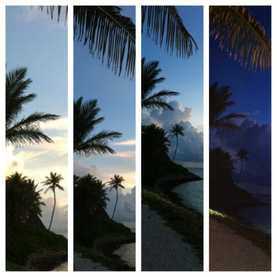 Sunset 😍 (at One & Only Reethi Rah)