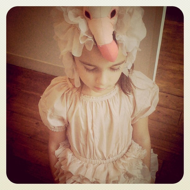 Flamingo dress and hat from H&M - All for the children collection by H&M for Unicef. 25% of the sales price will go to Unicef.