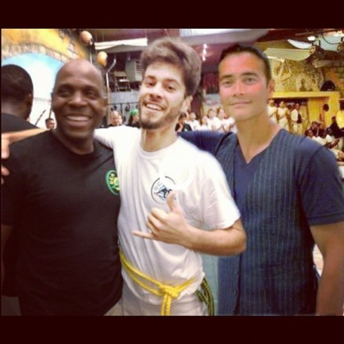 Me and my two hereos at my batizado yesterday. Mestre Amen Santo and Mark Dacascos. UCA 2012.
