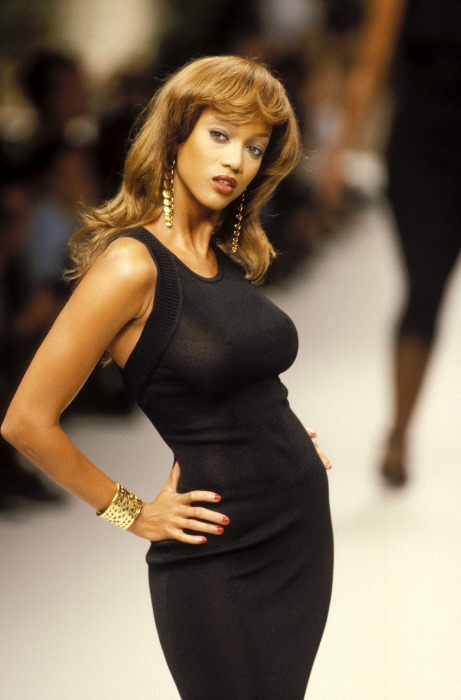supermodelshrine:  Tyra for Yves Saint Laurent, s/s 1995