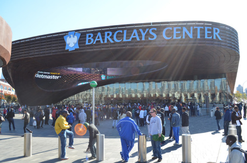 new Barclay's Center - home of the new Brooklyn Nets basketball team - Brooklyn, NY photo (c) Alan Strauber (all rights reserved) 10.21.12