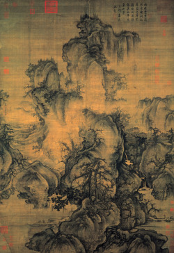 point-line:  Guo Xi - Early Spring, 1072