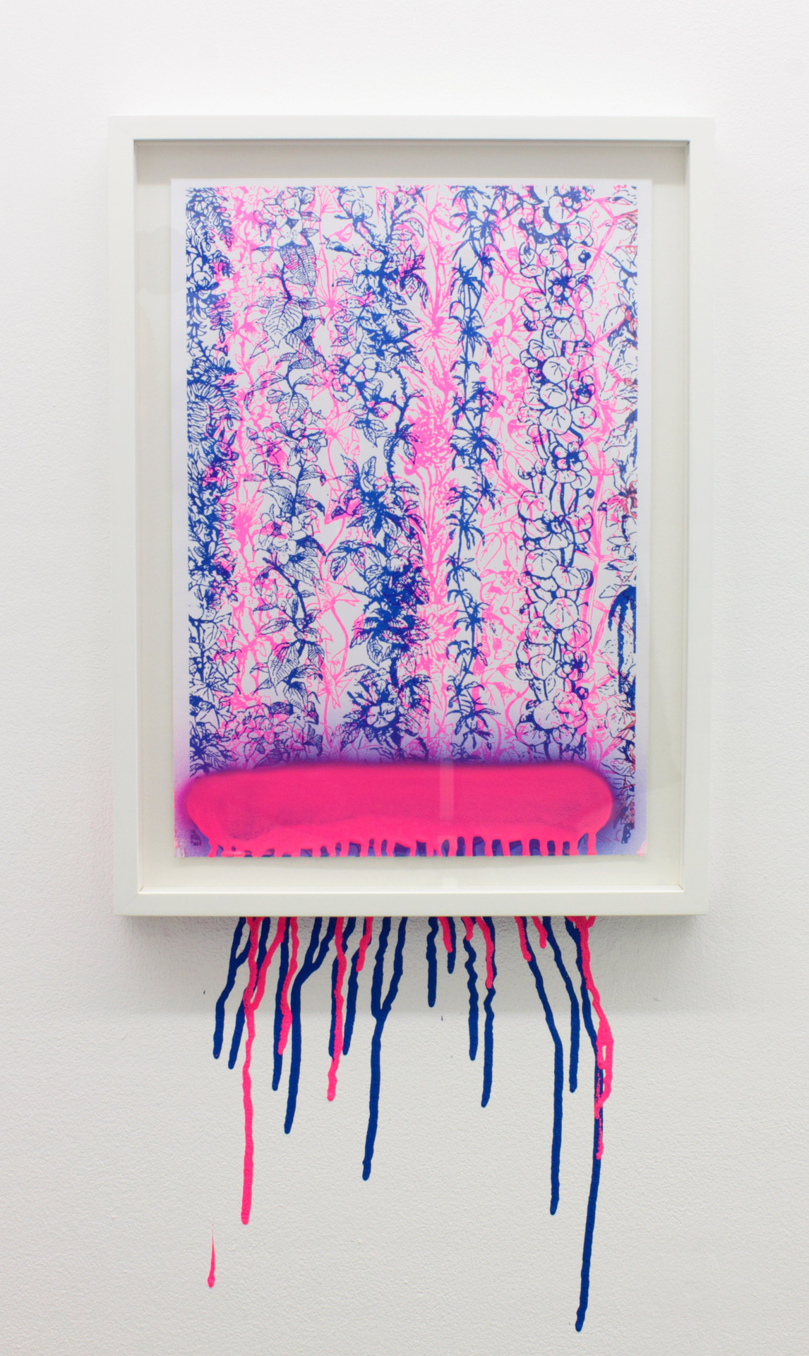 New Romantic (Pink and Blue)2012Spray paint, A3 Risograph print, frame37cm x 49cm