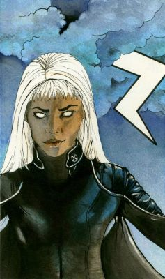 Illustration of Storm from X-men. I used Halle Berry for reference. He.