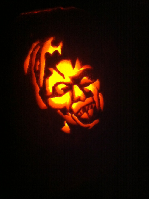 Carved a weeping angel pumpkin. Think I pulled it off??